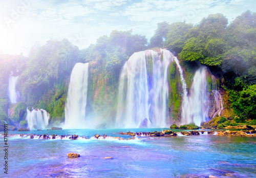 Foto op Canvas Watervallen water fall in vietnam, Southeast asia water fall beautyful lands