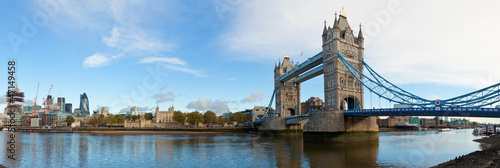 Spoed Foto op Canvas Londen London Tower panorama