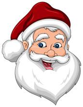 Happy Santa Claus Face Side View