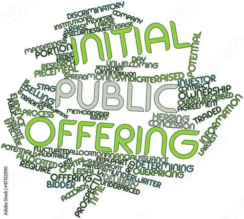 Photo Word cloud for Initial public offering