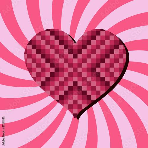 Foto op Aluminium Pixel Love background
