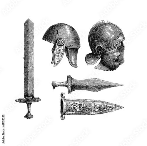 Ancient Rome : Weapons & Helms - Antiquity Canvas Print
