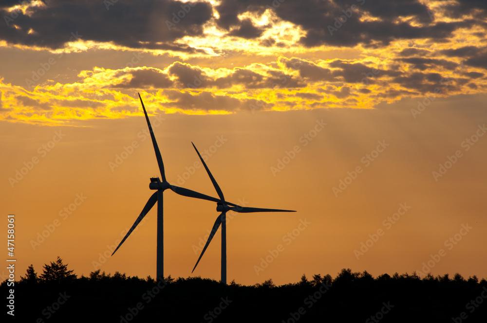 Wind Mill / Wind Turbine / Wind Plant Foto, Poster, Wandbilder bei ...