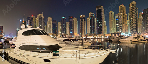 Fotografie, Obraz  Dubai Yacht Panorama
