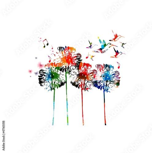 abstrakcjonistyczny-kolorowy-dandelion-tlo