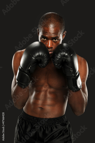 Photo  Young African American Boxer