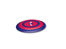 Red And Blue 3D Frisbee With B...