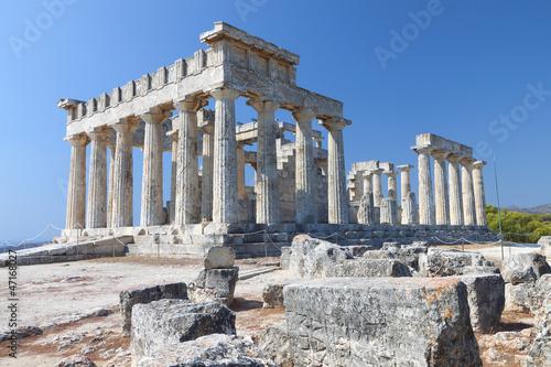 Printed kitchen splashbacks Athens Temple of Aphaea Athina at Aegina island in Greece.