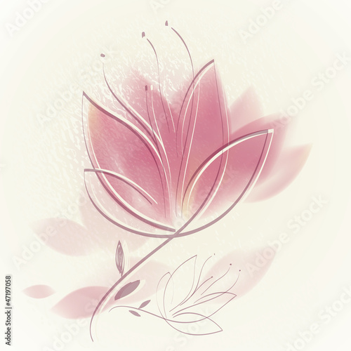 Tuinposter Abstract bloemen Pink tulip / Lovely floral background