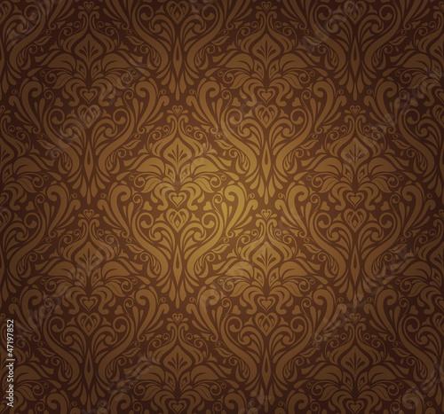 Plakaty brązowe  dark-brown-vintage-wallpaper-design