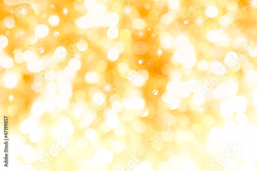 Valokuva  Golden background with stars