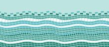 Vector Abstract Ice Chrystals Texture Horizontal Seamless