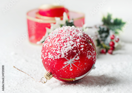 Fototapeta Christmas ball obraz na płótnie