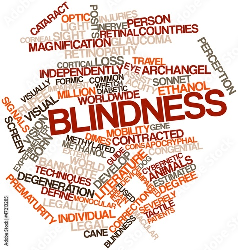 Word cloud for Blindness Canvas Print