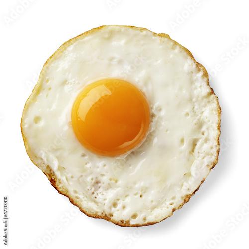 Deurstickers Gebakken Eieren fried egg isolated