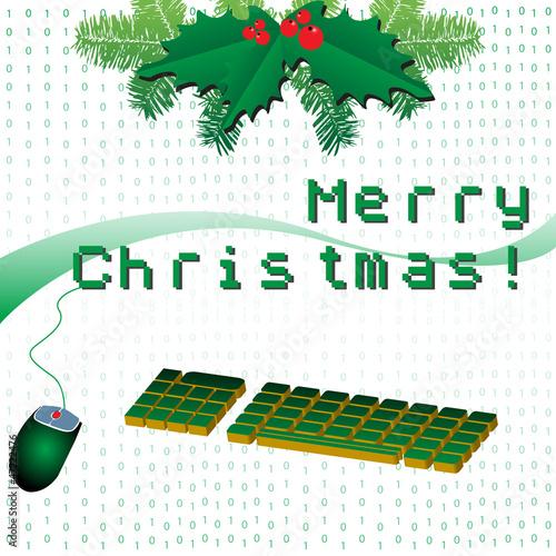 Foto op Aluminium Pixel Merry Christmas in pixels