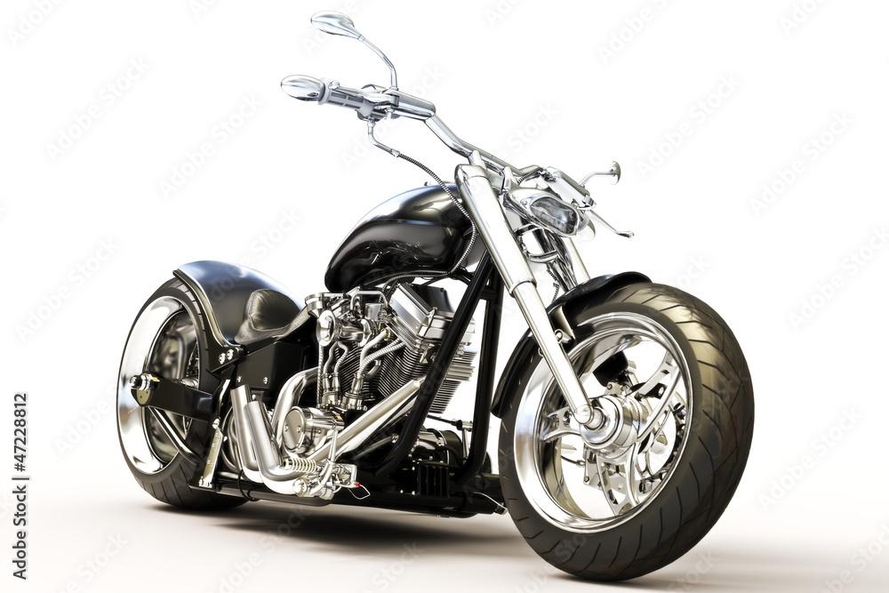 Fototapeta Motorcycle on a white background