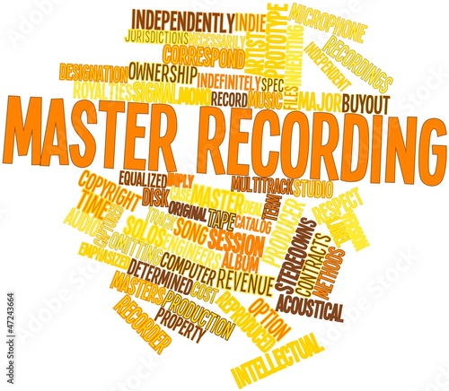 Word cloud for Master recording - Buy this stock