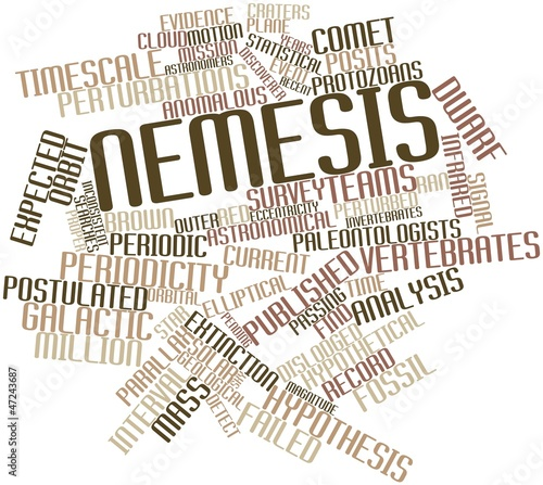 Word cloud for Nemesis Canvas Print