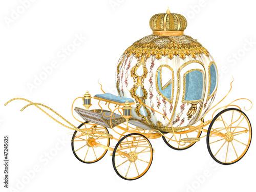 Stampa su Tela fairy tale royal carriage, isolated