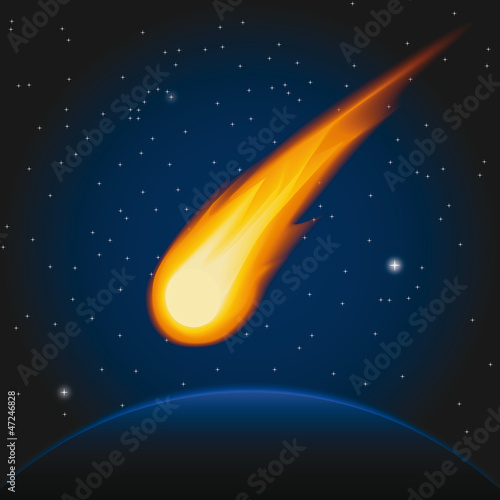 Cadres-photo bureau Cosmos Falling asteroid