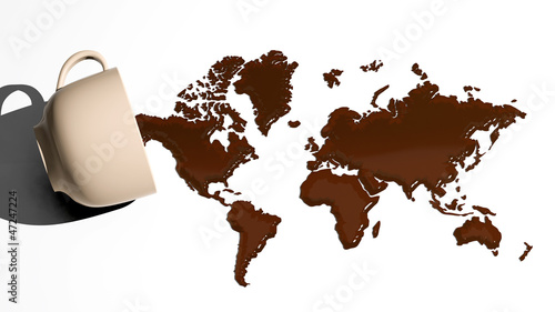mapa-swiata-wykonana-z-plam-kawy
