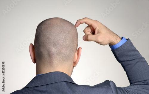 Fotografie, Obraz  Ejecutivo pensando,creando,hombre pensativo.
