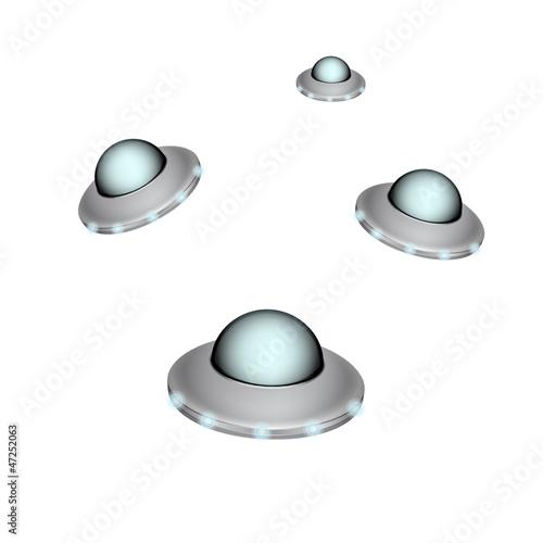 Foto op Canvas UFO Unidentified flying object