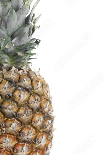 Fototapety, obrazy: Whole Pineapple on White Background.