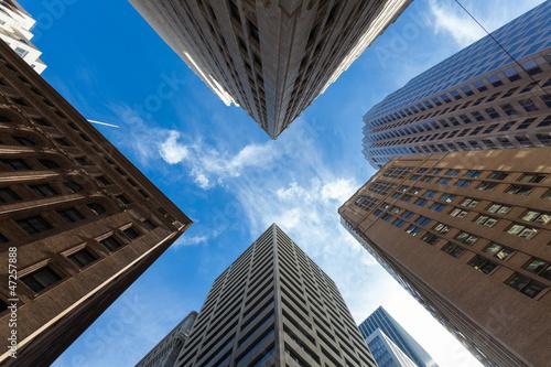 Deurstickers San Francisco Quartiere Finanziario San Francisco
