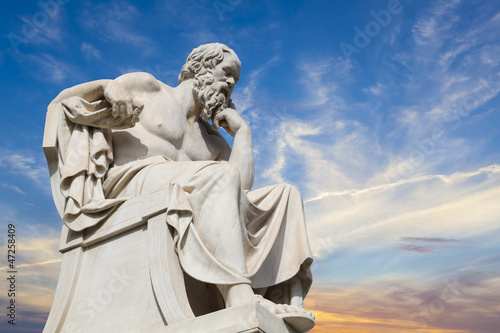 Obraz statue of Socrates from the Academy of Athens,Greece - fototapety do salonu