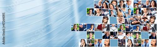 Fotografie, Obraz  Business people team collage.