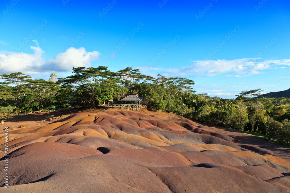 Fototapety, obrazy: Chamarel seven colored earths in Mauritius