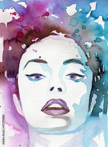 fantazja-mlodej-dziewczyny-akwarela-portret