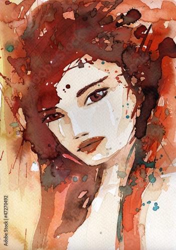 Fototapety, obrazy: red woman