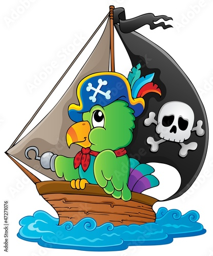 Photo Stands Pirates Image with pirate parrot theme 1