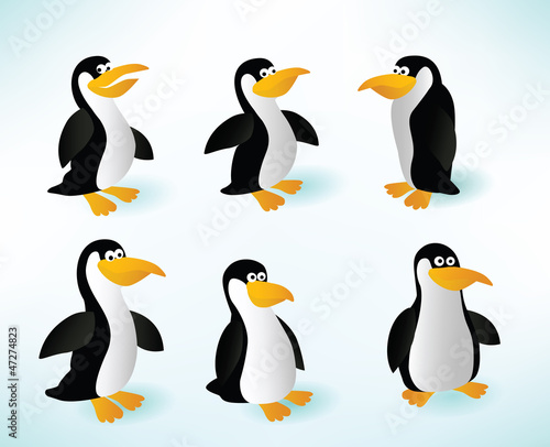 In de dag Vogels, bijen Six Penguins