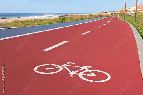 bikers lane sign Canvas Print