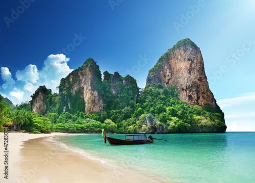 Foto-Kissen - Railay beach in Krabi Thailand
