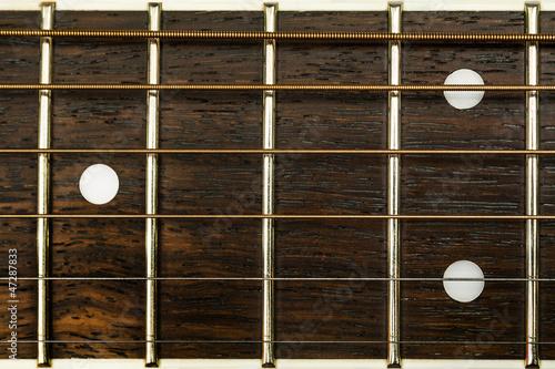 Spoed Foto op Canvas Muziekwinkel guitar detail
