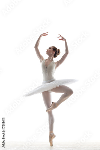 Photo  sillhouette of ballerina