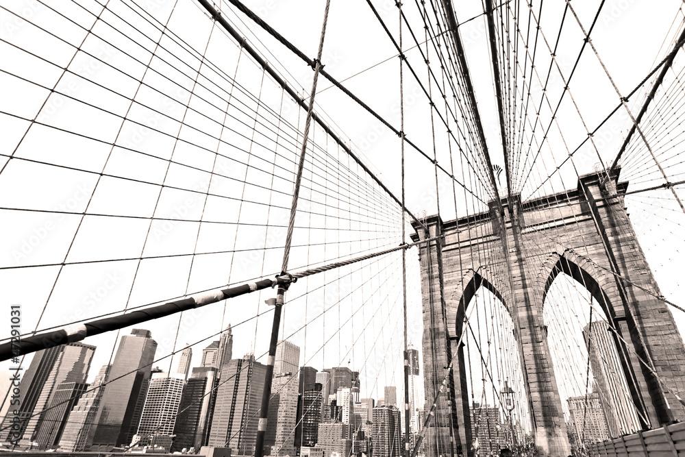 Fototapety, obrazy: Most Manhattan, Nowy Jork, USA