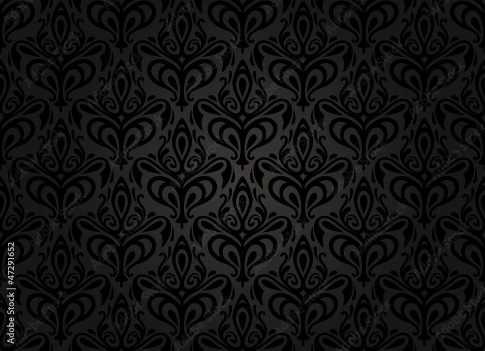 black vintage wallpaper background