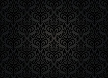 Black Vintage Wallpaper Backgr...