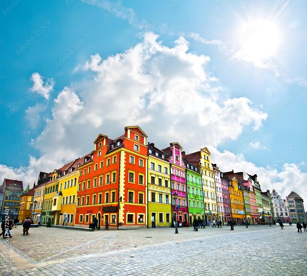 Centrum Wrocławia, kamienice rynku <span>plik: #47292401 | autor: pablo777</span>