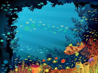 Obraz na płótnie Canvas Colored coral reef