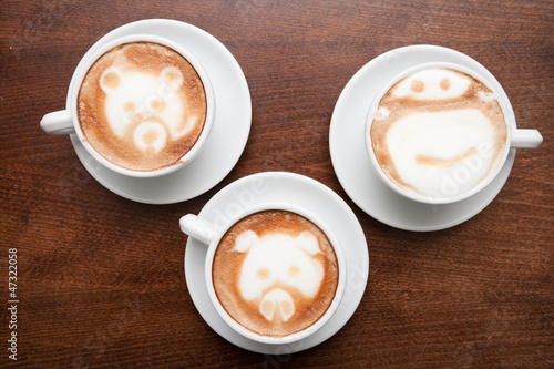 Foto op Plexiglas Chocolade Latte Art