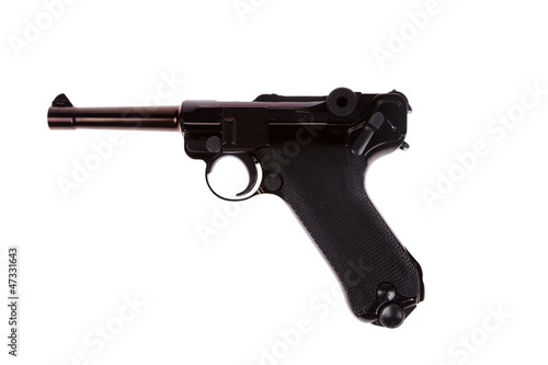 Fotografia  German luger world war 2 pistol left side
