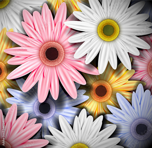 Photo Background with colorful gerberas