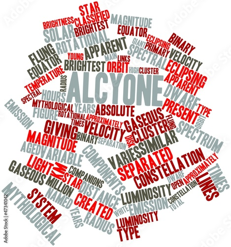 Fotografie, Tablou Word cloud for Alcyone